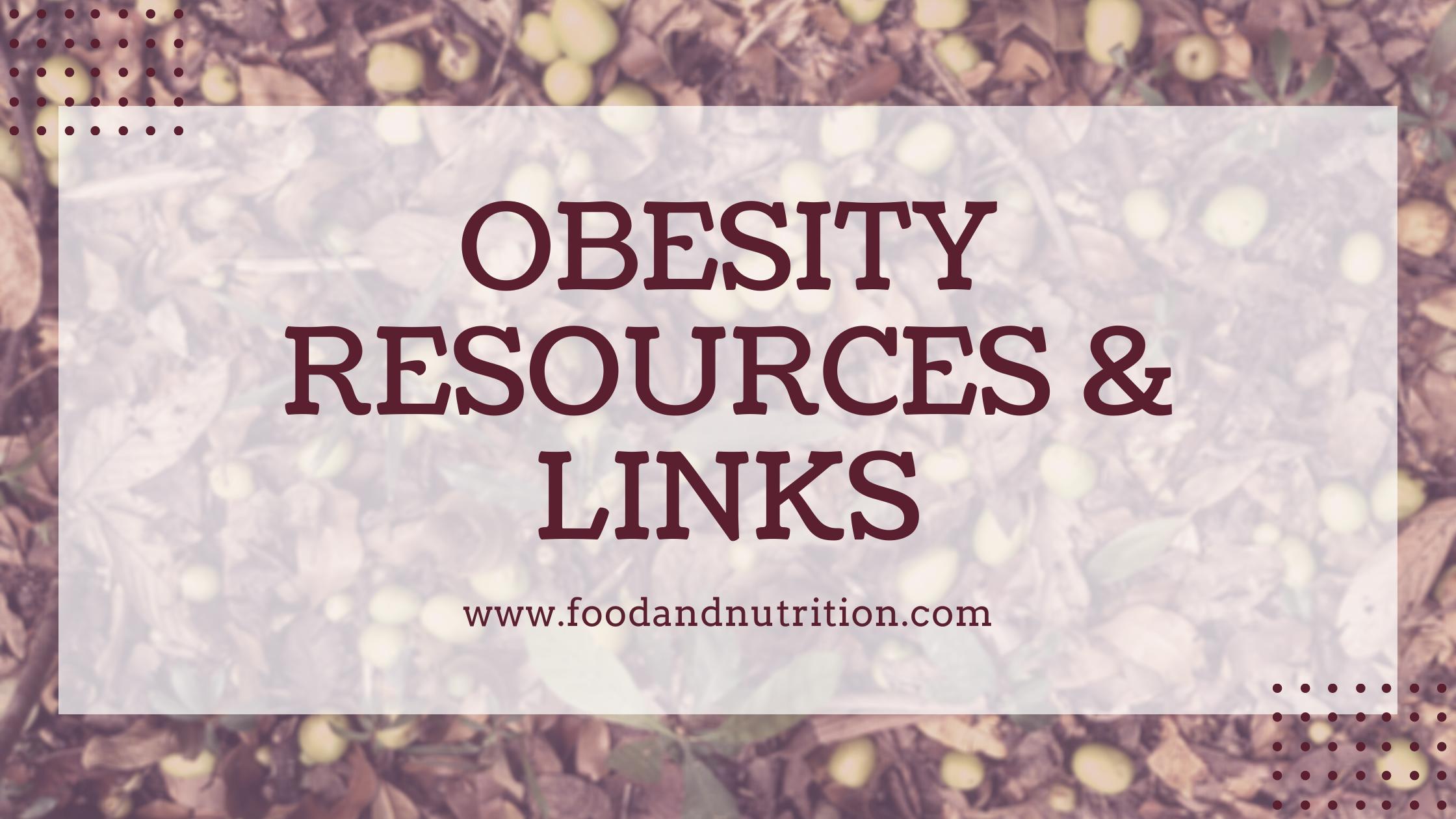 Obesity Links